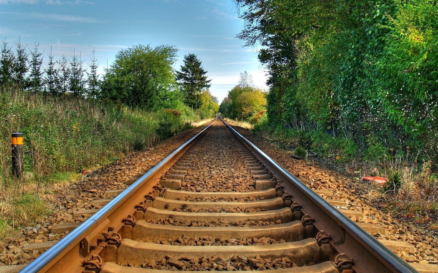 Railway Line Wide Tablet Background