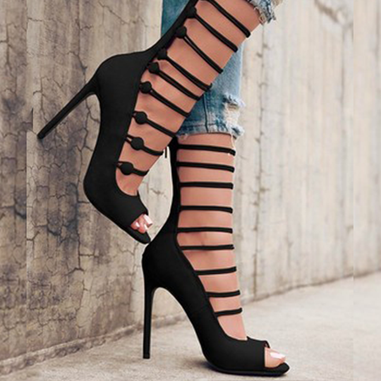 2f9eb26944c Prettymia Plus Size Open Toe High Stiletto Heels