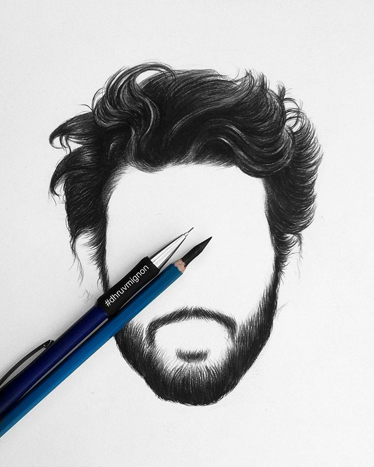 Hair & beard front.. . . #art #hair #hairstyle #beard #sketch #pencildrawing #realisticdrawing #pen #pencil #paper #draw #drawing… #hairandbeardstyles