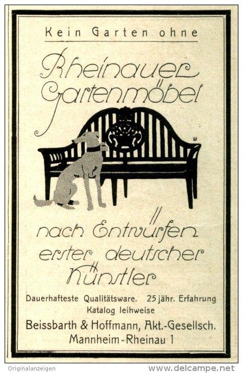 Original-Werbung/ Anzeige 1927 - RHEINAUER GARTENMÖBE…   Vintage ...