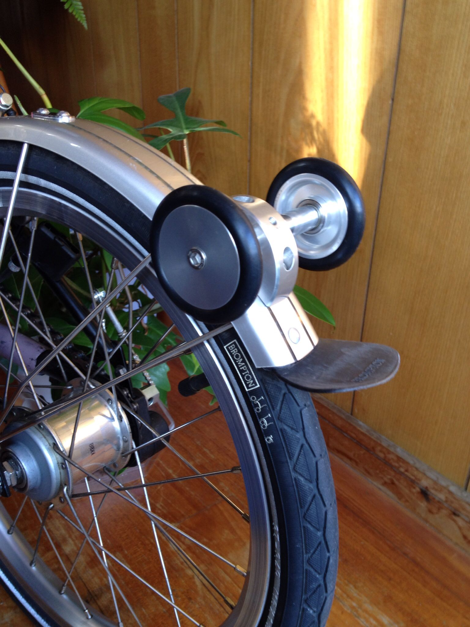 V.3 Brompton X-Roller Easy wheel Extender AL7075 Strong Alloy
