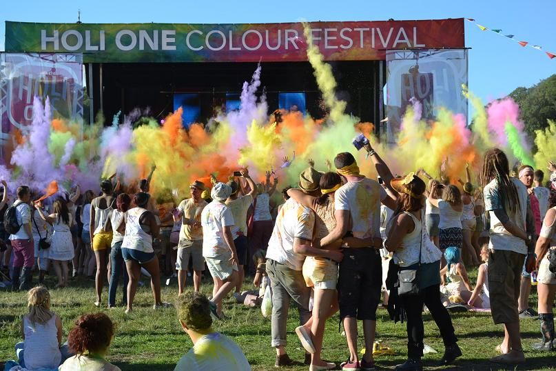 Holi One Colour Festival #Plymouth