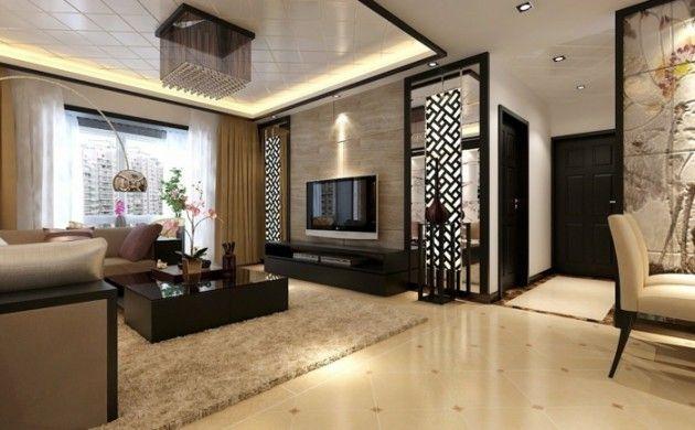 wohnideen wohnzimmer beiger teppich gardinen orchideen deco - gardinen wohnzimmer beige