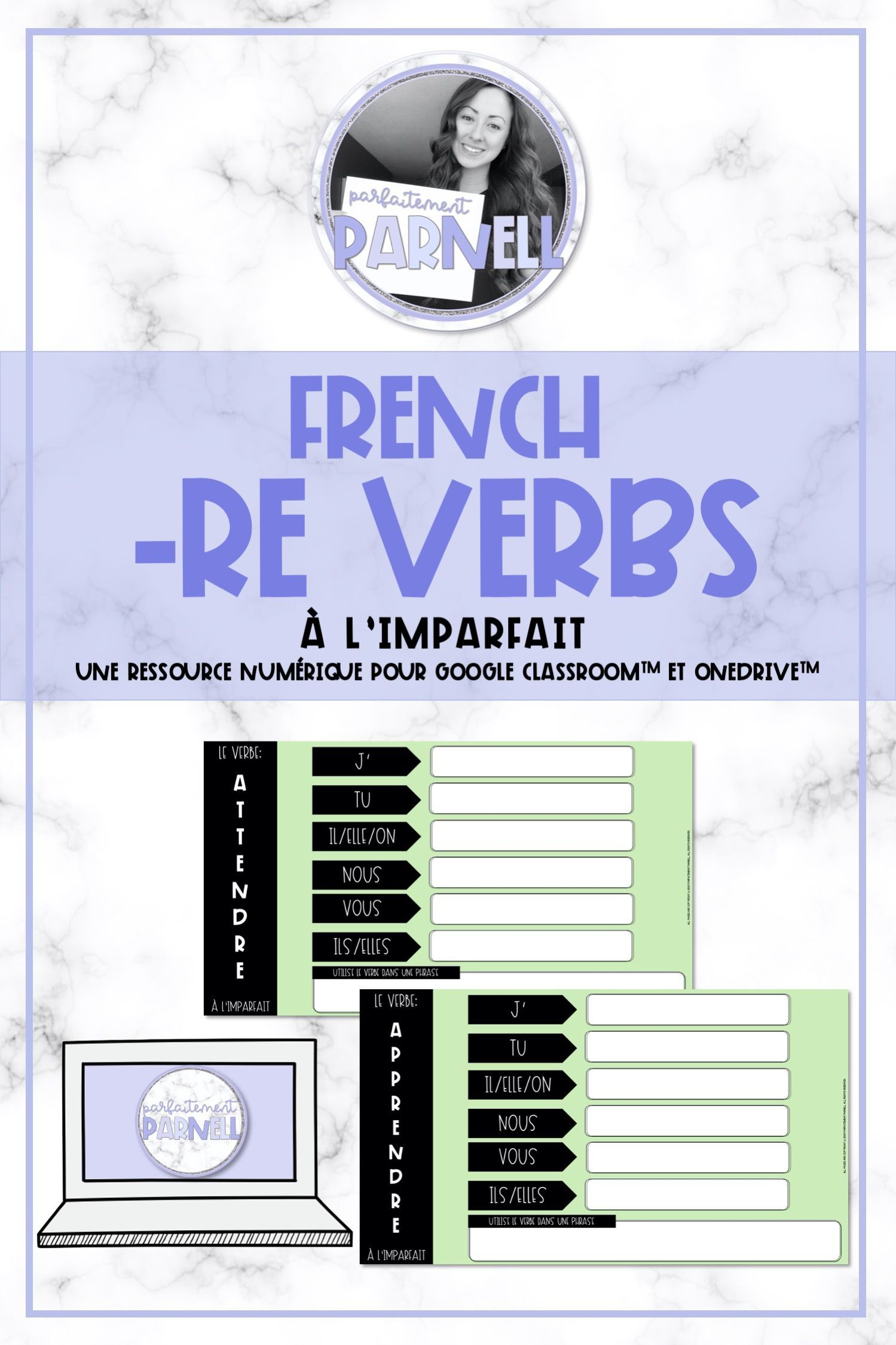 French Re Verb Game A L Imparfait For Classroom