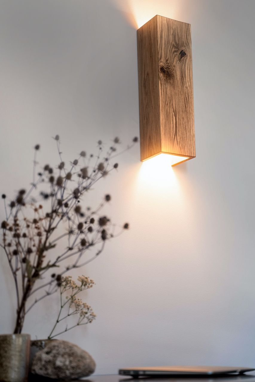 wall wooden lamp