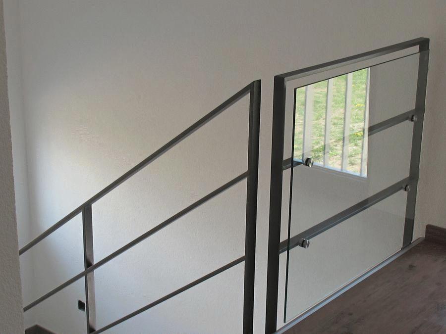 br stungsgel nder aus flachstahl mit berkletterschutz treppe innen pinterest. Black Bedroom Furniture Sets. Home Design Ideas
