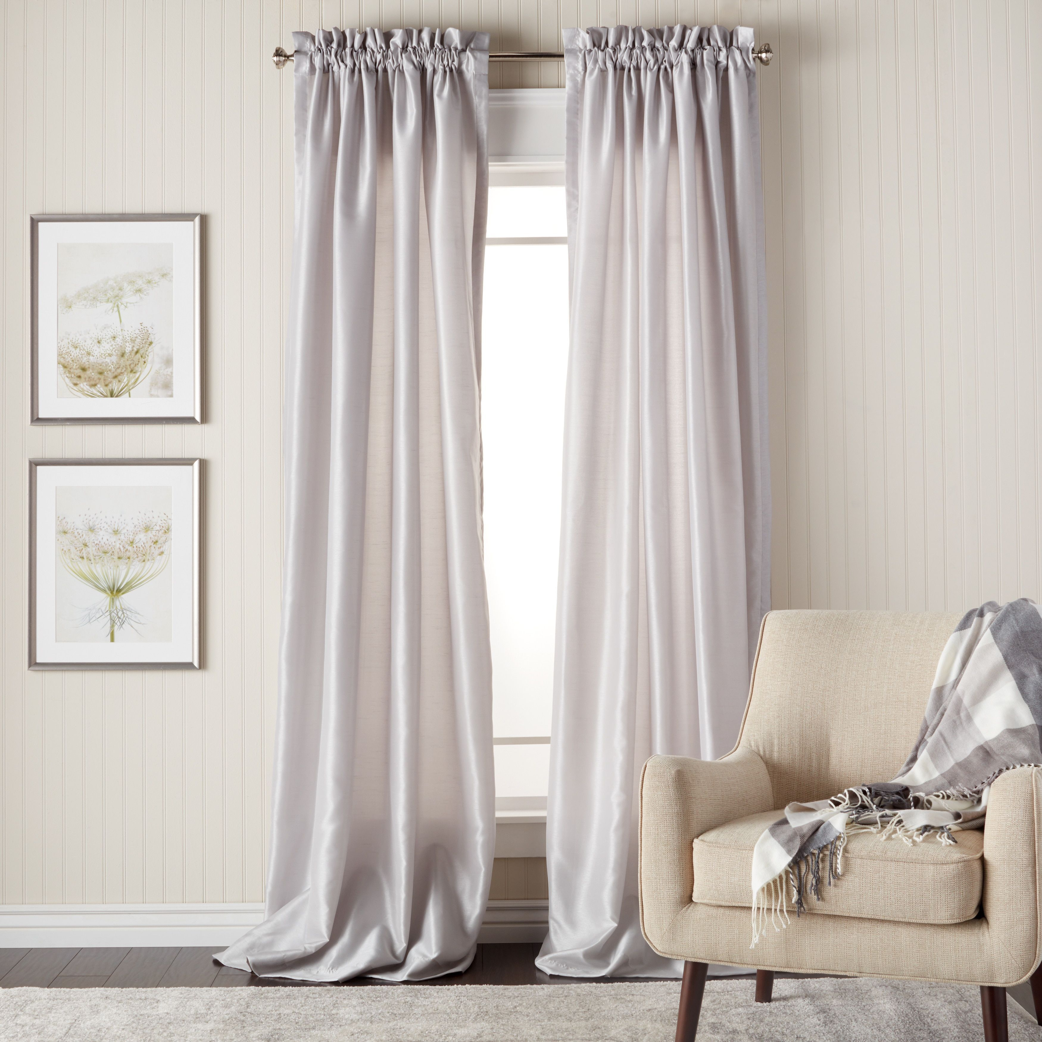 Heritage Landing 96 Inch Faux Silk Lined Curtain Pair 54 X 96