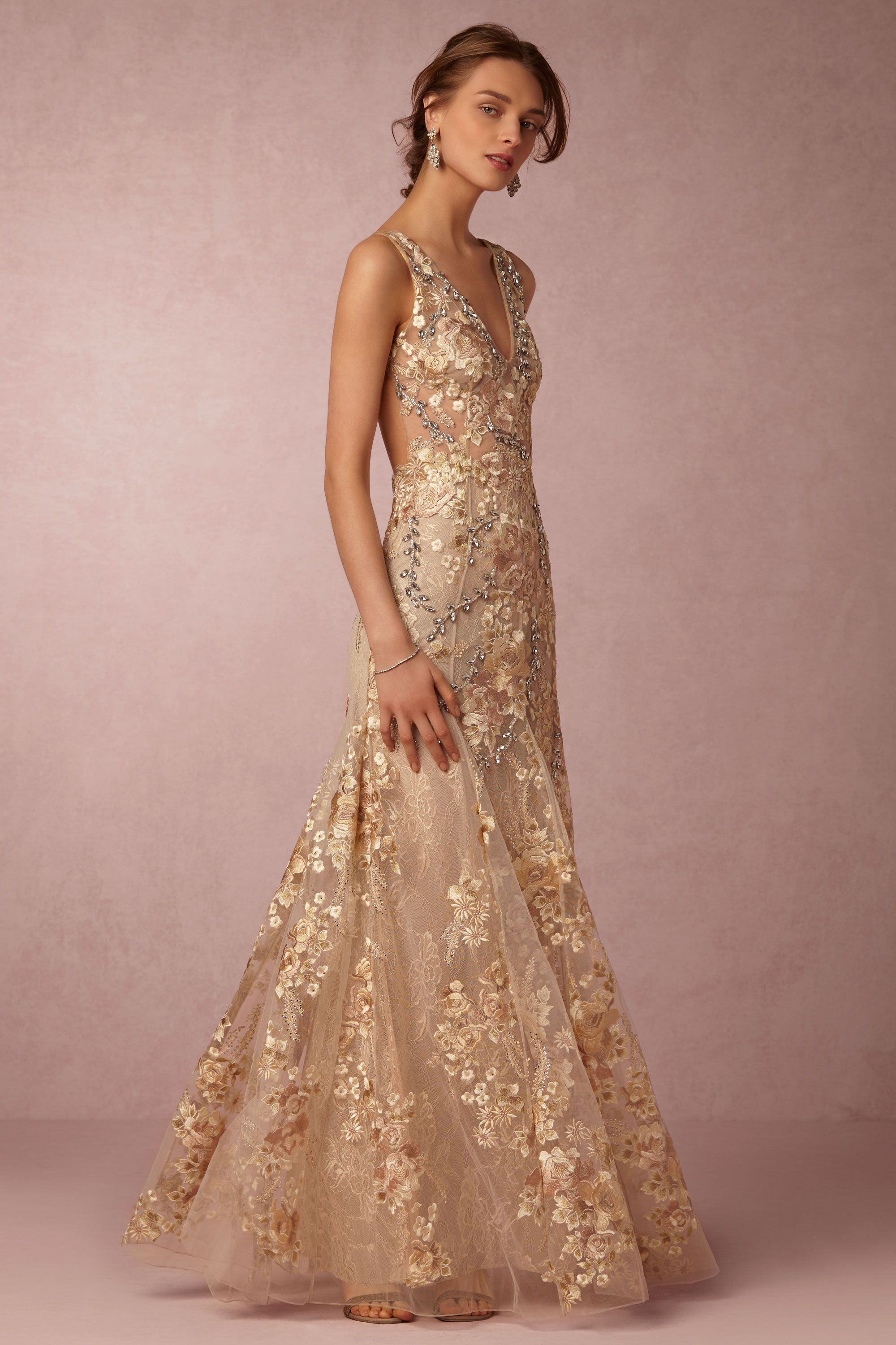BHLDN\'s Patricia Bonaldi Gabriela Gown in Gold | Gowns, Wedding ...