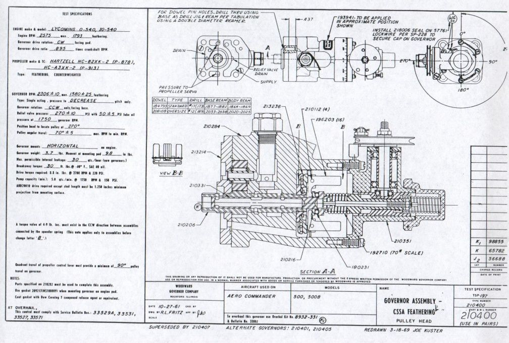 woodward aircraft propeller governor schematic drawing