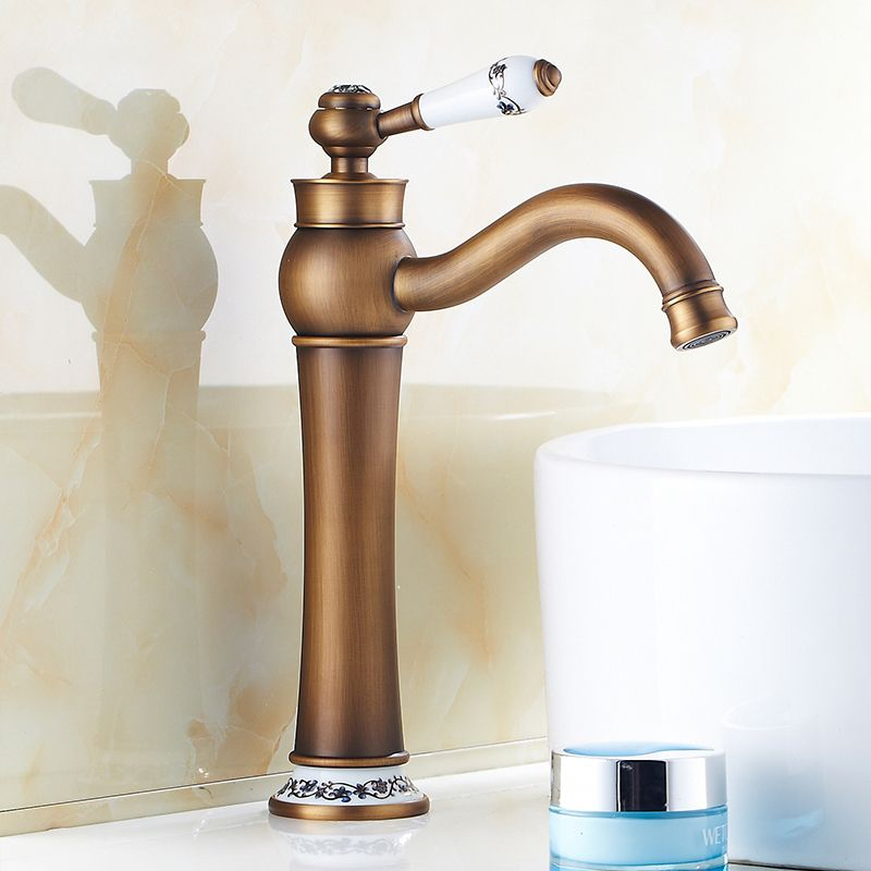 Free Shipping Antique style Brass sink basin faucet water tap mixer ...