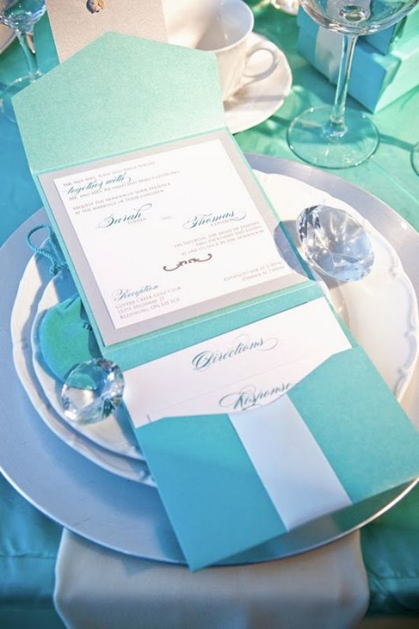 Tiffany Blue Themed Wedding Ideas And Invitations- Perfect ...