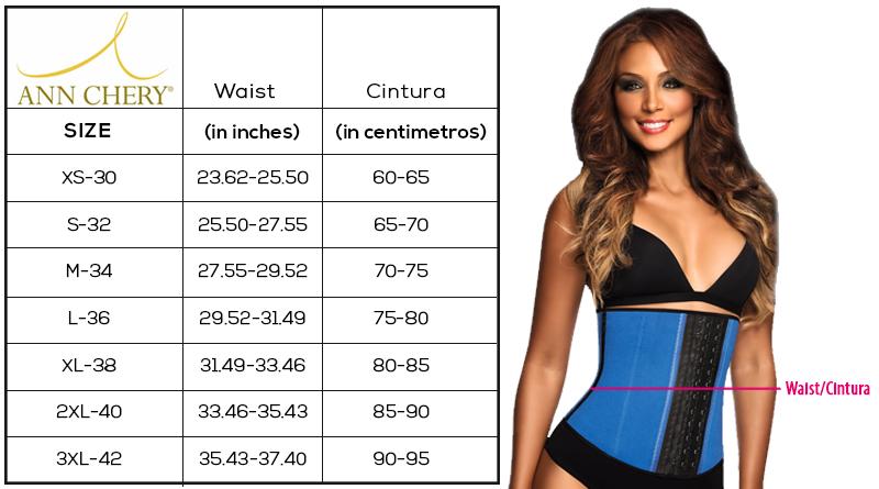 Size Chart Bombshell Curves Waist Cincher Woman With Smallest Waist Best Waist Trainer