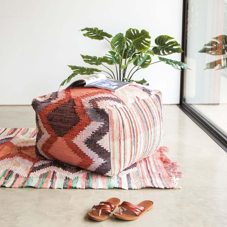 Karim Recycled Cotton Pouffe Diy Pouf Bean Bag Furniture
