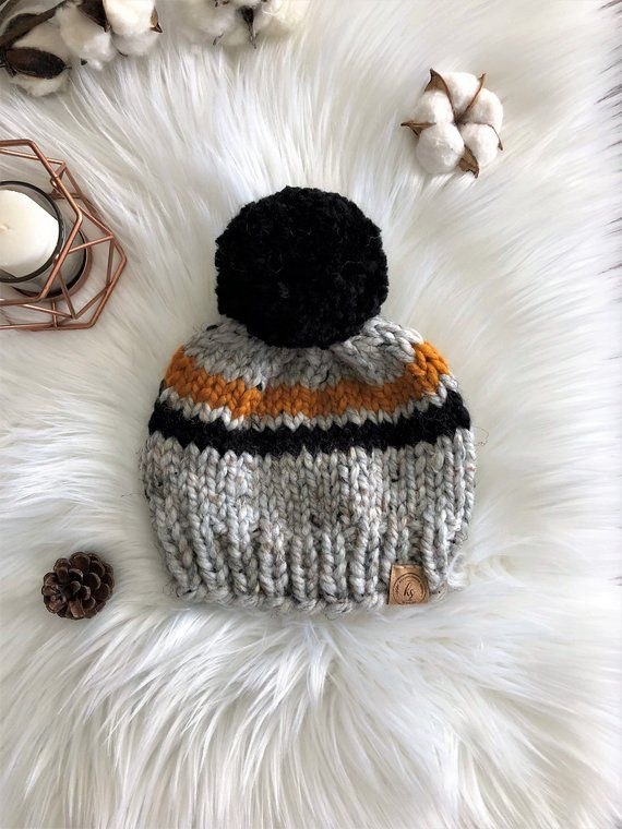 2baad692ba6 Black Mustard Gray Pompom Hat Baby Knit Hat Newborn Beanie Toddler Knit  Beanie Hat for Baby Boy Baby