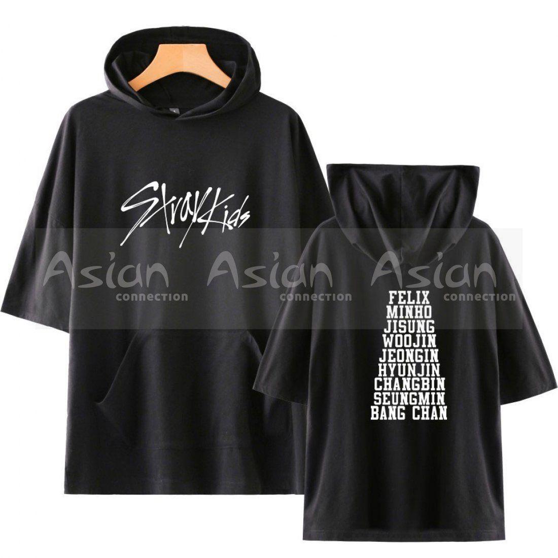 JUNG KOOK Kpop Stray Kids False Two-Piece Hoodie Woojin Felix Hyunjin Sweater