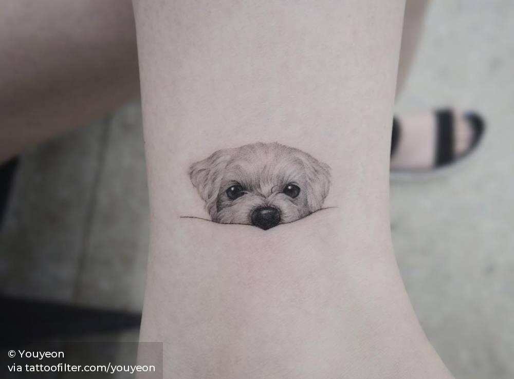 Maltese Portrait Dog Tattoos Tattoos For Dog Lovers Small Dog