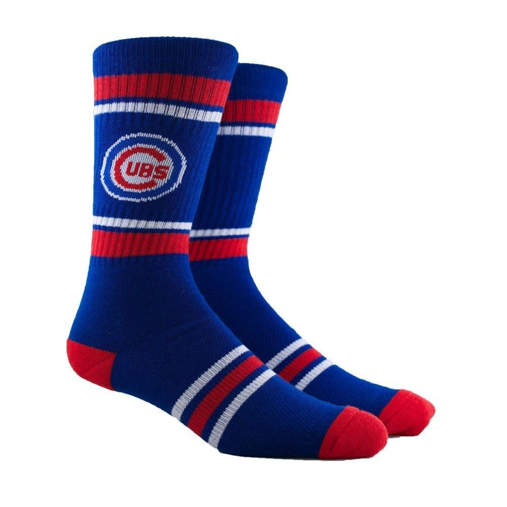 Chicago Cubs Stripe Crew Socks 6 12 In 2020 Mlb Chicago Cubs Texas Rangers Cubs Team
