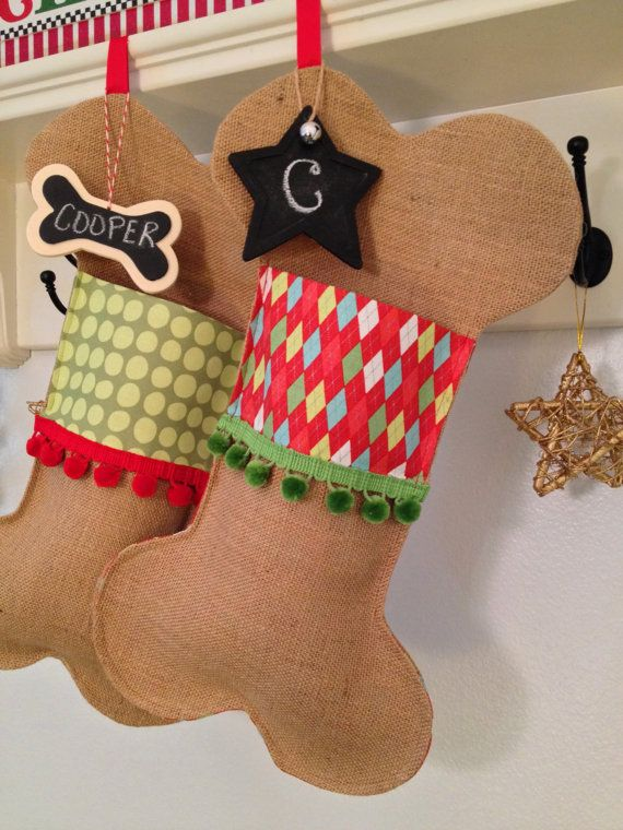 Pet Christmas Stocking Festive Dog Bone By Soopertramp On