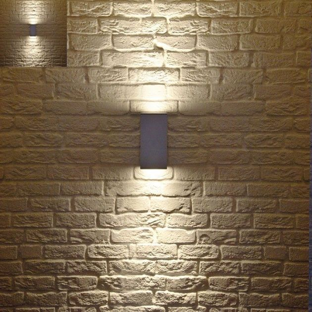 Perfect Contemporary Outdoor Lighting Fixtures Set Exposed Brick