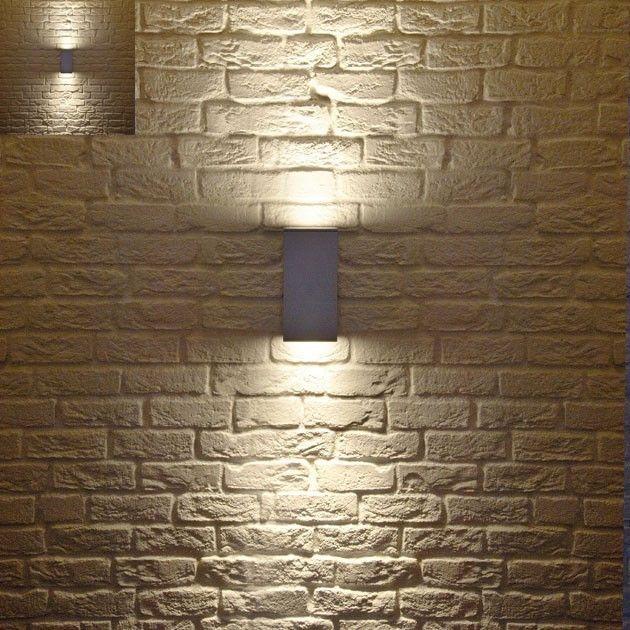 Perfect Contemporary Outdoor Lighting Fixtures Set Exposed Brick