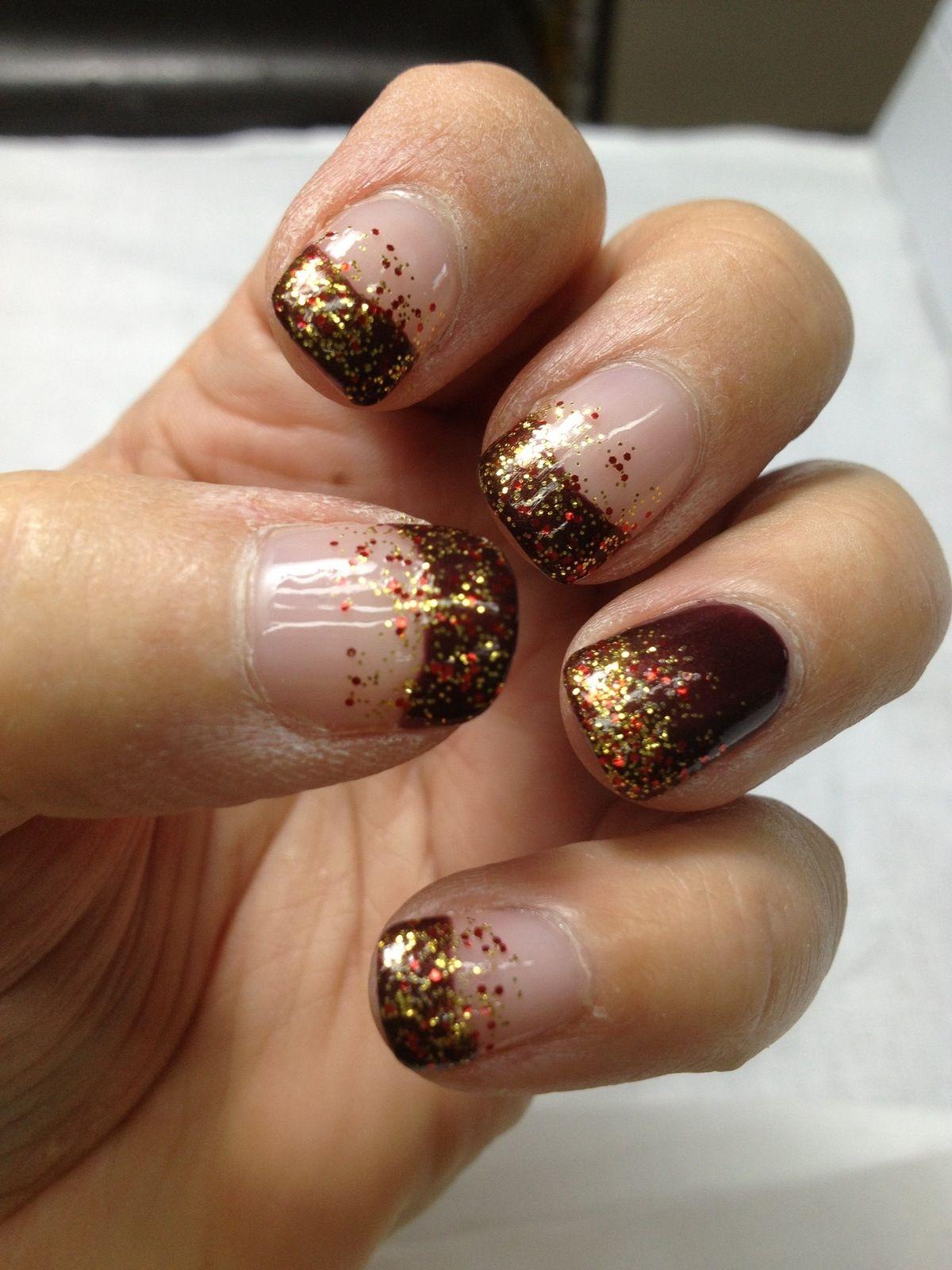Cute ☺ | Autumn nails, Fall nail designs, Fall nail art ...