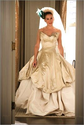 Sex and the city vera wang wedding gown