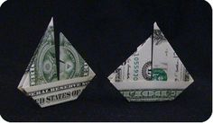 Photo of boat – dollar bill origami boat instructions – Google Search – sale away on your…