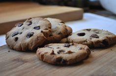 Cookies aux pépites de chocolat sans gluten et sans lait.  #sansgluten