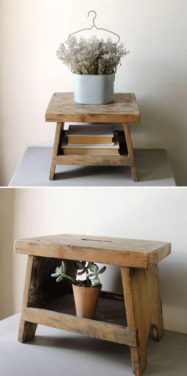 Amazing Vintage Wooden Step Stool Bench Table Furniture Frankydiablos Diy Chair Ideas Frankydiabloscom
