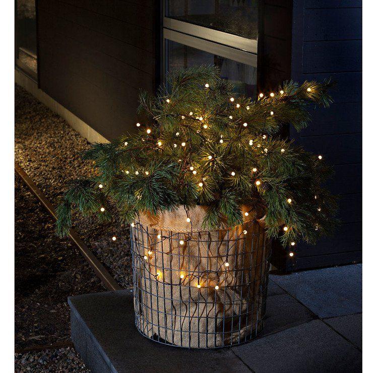 Konstsmide LED Lichterkette Globe 40 LED warmweiß außen 3,12m schwarz