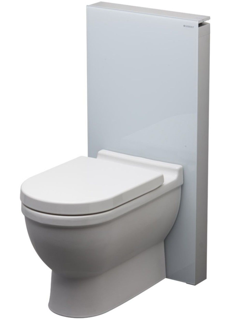 Geberit Monolith For Floor Mount Toilet In White Glass In 2020 Toilet Flooring Monolith