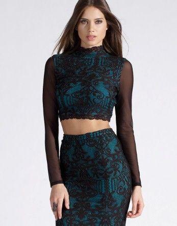 44e621727ce Lipsy Baroque Lace Crop Top £32.00 | Moda | Clothes for women, Lace ...
