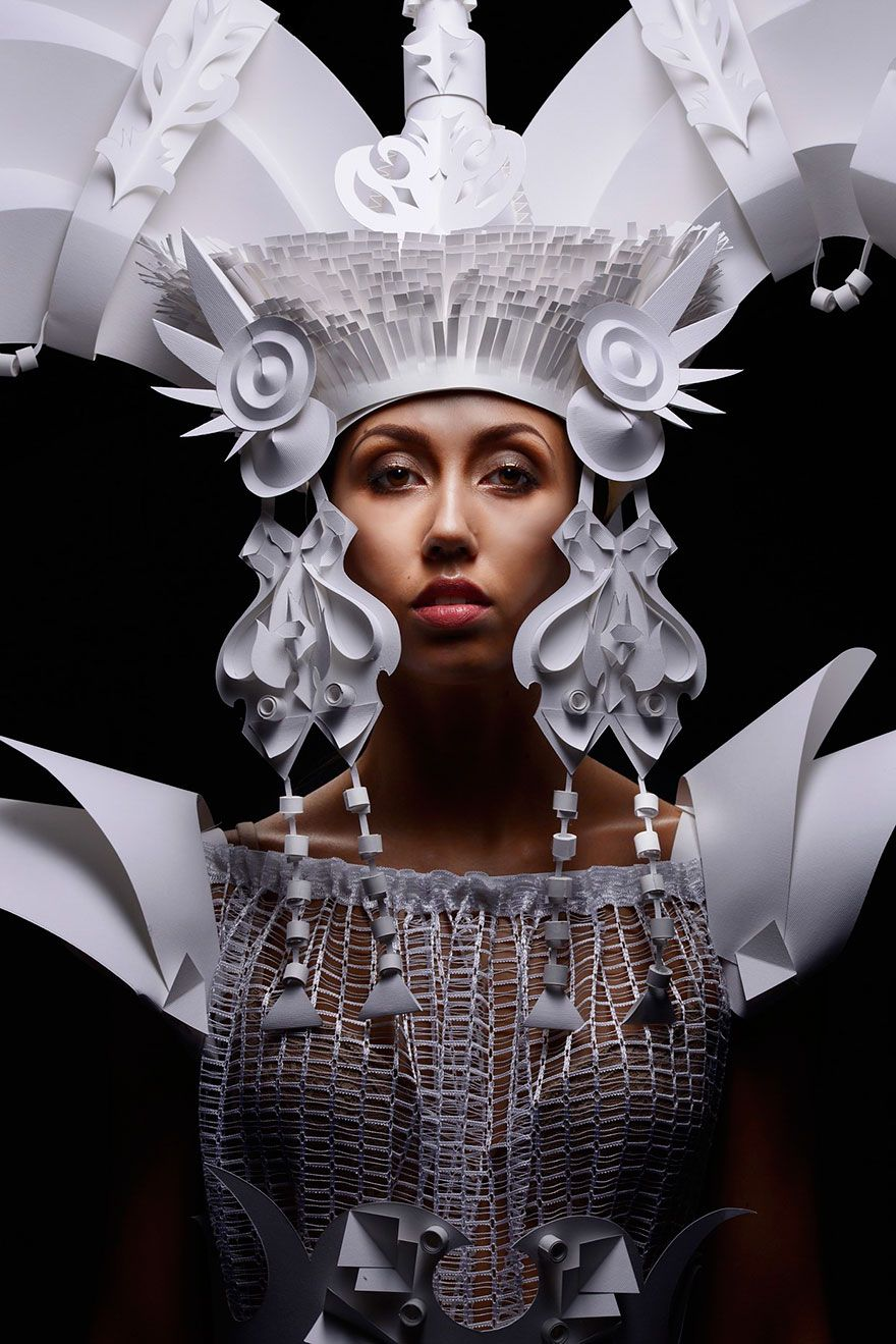 Russian Artist Creates Intricate Baroque Wigs From Paper This is not your everyday paper art. Russian artist Asya Kozina has been turning paper into high-art for years, and won renown for her impressive Mongolian wedding costumes. Kozina explains her motivation on Behance: