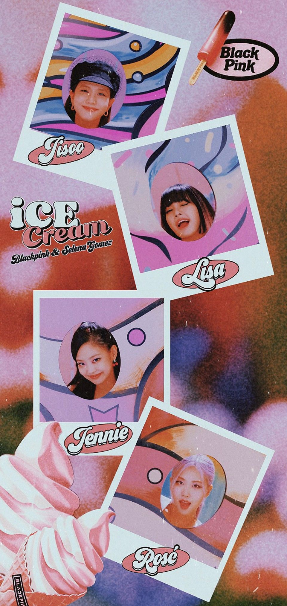 BLACKPINK ICE CREAM Wallpaper em 2020 Blakpink, Cantores