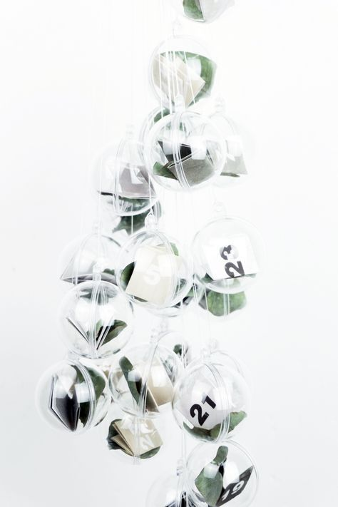 DIY Adventskalender selber basteln - minimalistisch (inkl. Vorlage)