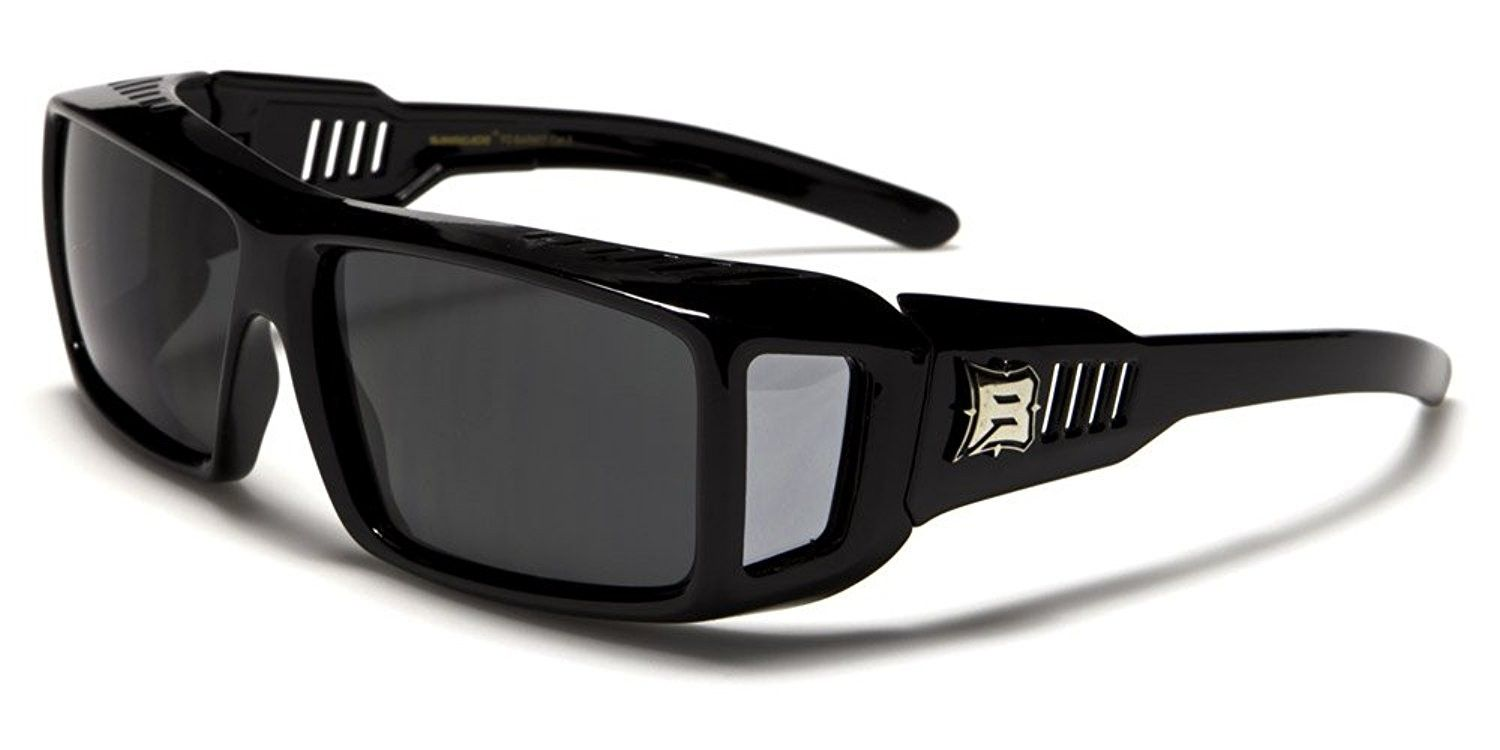 Polarized rectangular fit over sunglasses with side