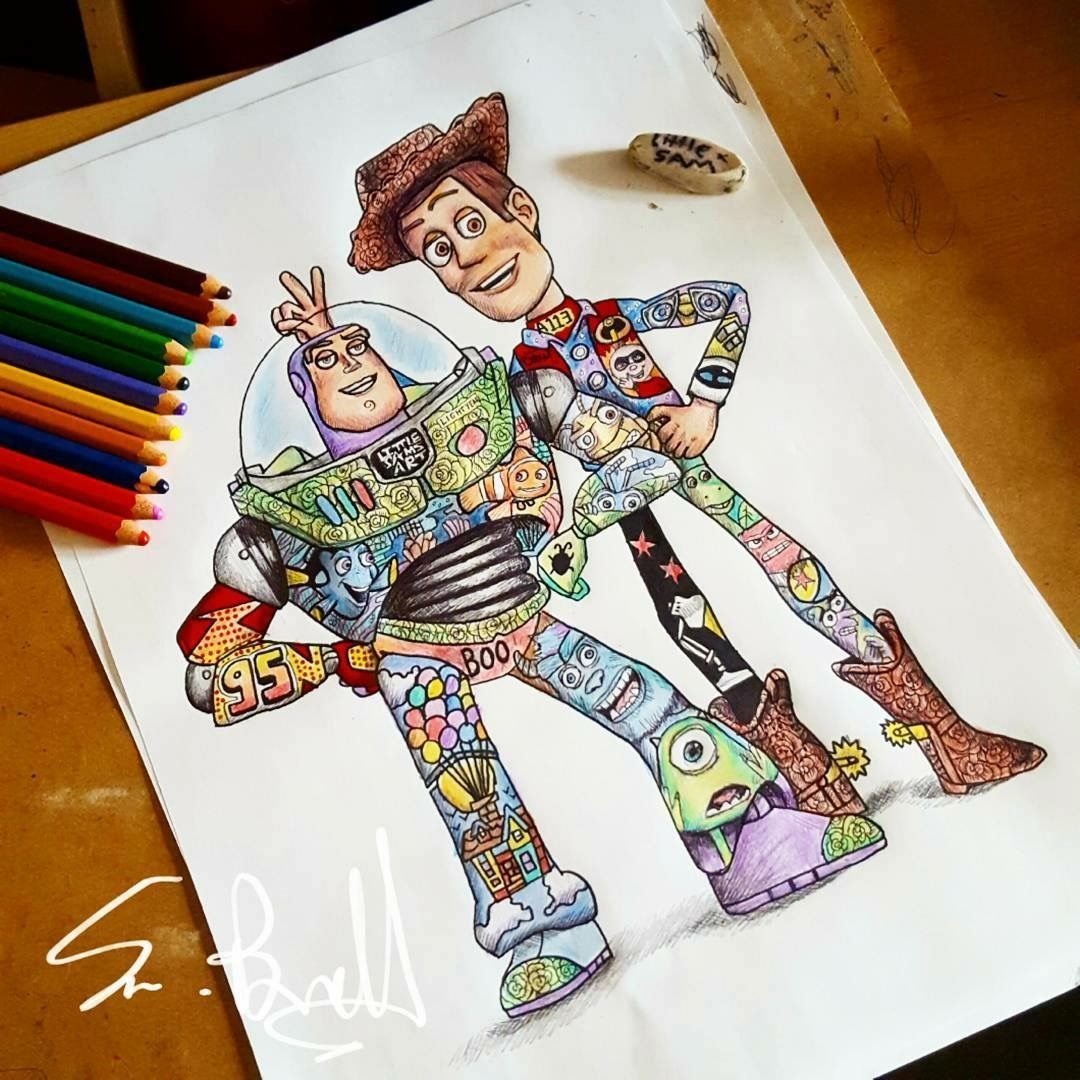 Disney You Re Amazing: Woody And Buzz From Toy Story💚