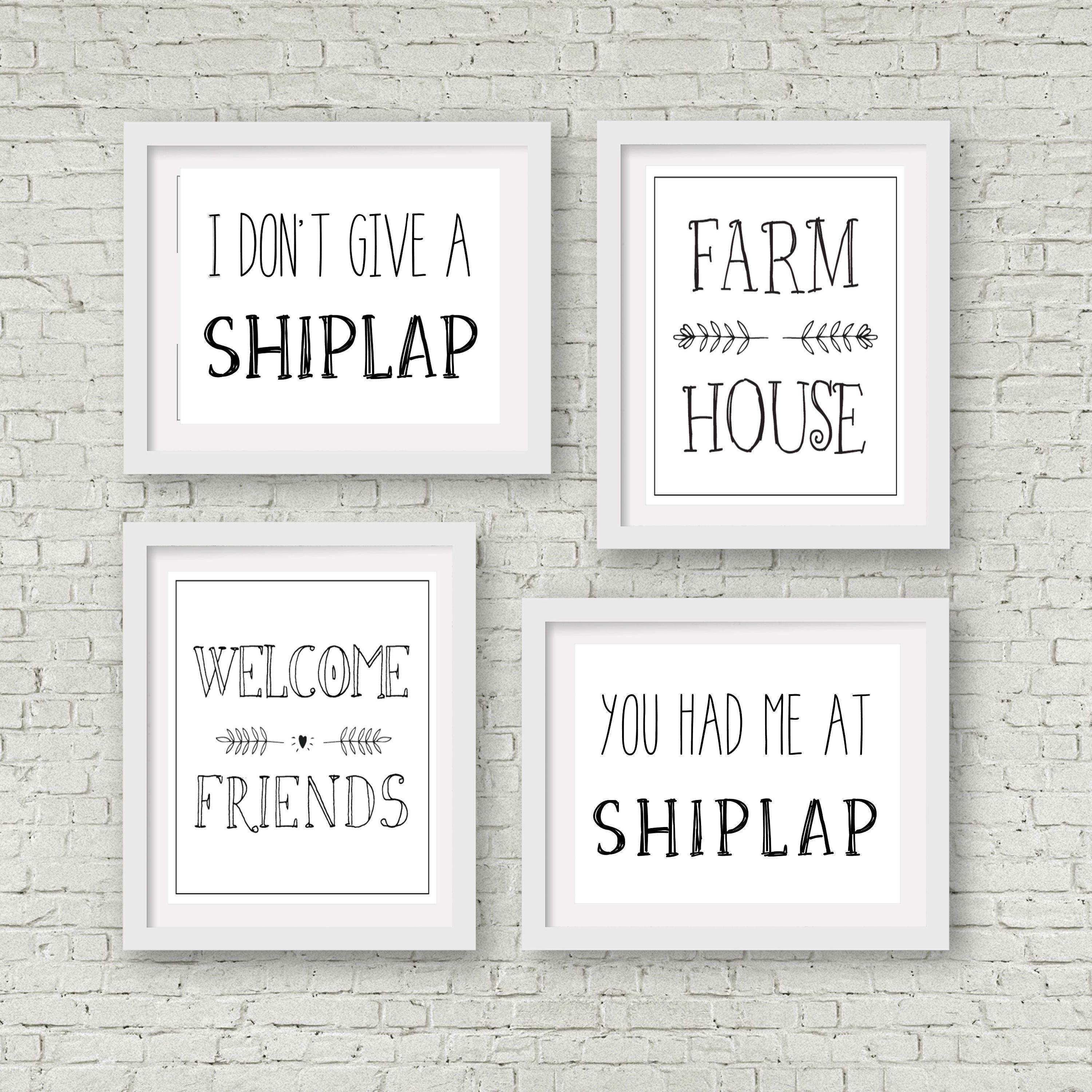 Free Farmhouse Printables Shiplap Print Wall Art Instant Download Etsy Prints
