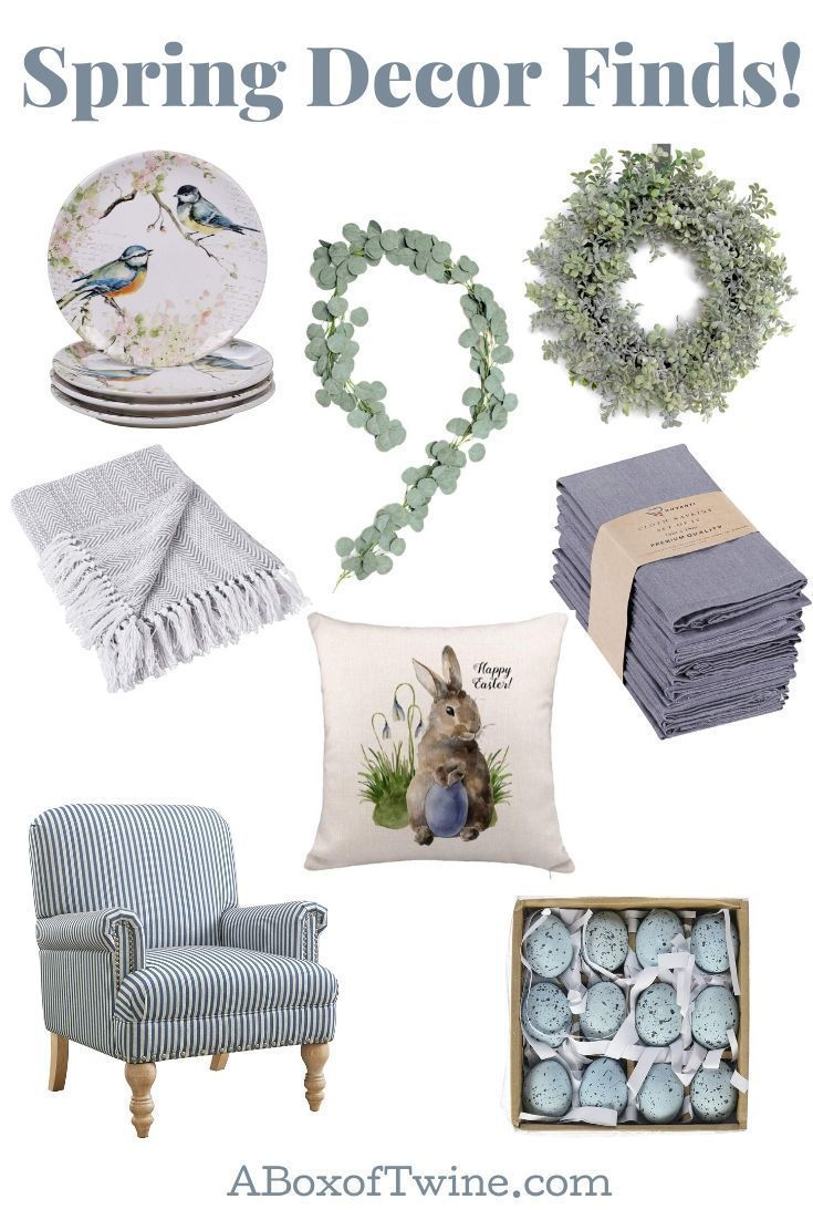 Spring Decor - Spruce up your home this spring and Easter with these adorable spring decor finds from Amazon. They won't break the bank! Visit A Box of Twine for ideas. #springdecor #easterdecor
