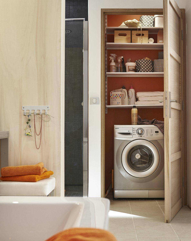 Aménager un espace buanderie dans une salle de bain  Appartement