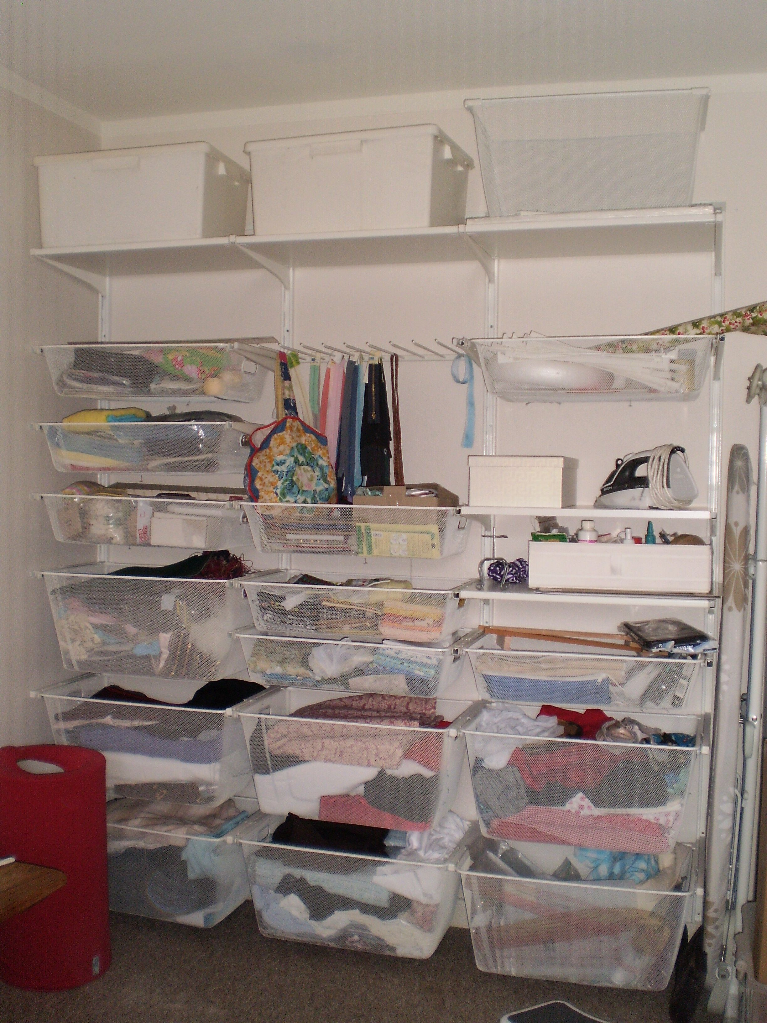Ikea Algot Storage Used In A Built In Wardrobe Space For
