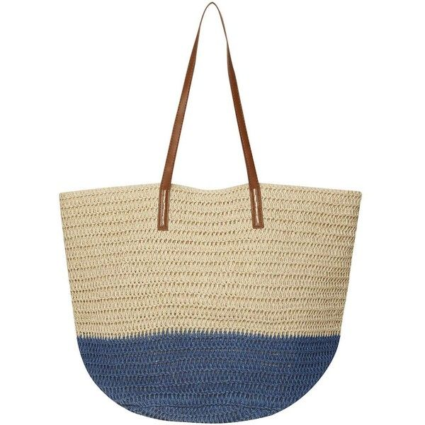Dorothy Perkins Blue Soft Beach Tote Bag ($29) ❤ liked on ...