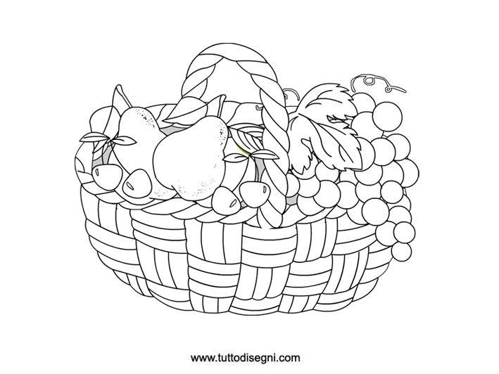 Disegni Da Colorare Natura Morta Frutta.Cesto Di Frutta Da Colorare Tutto Disegni Natura Morta Idee D Arte Disegni Da Colorare