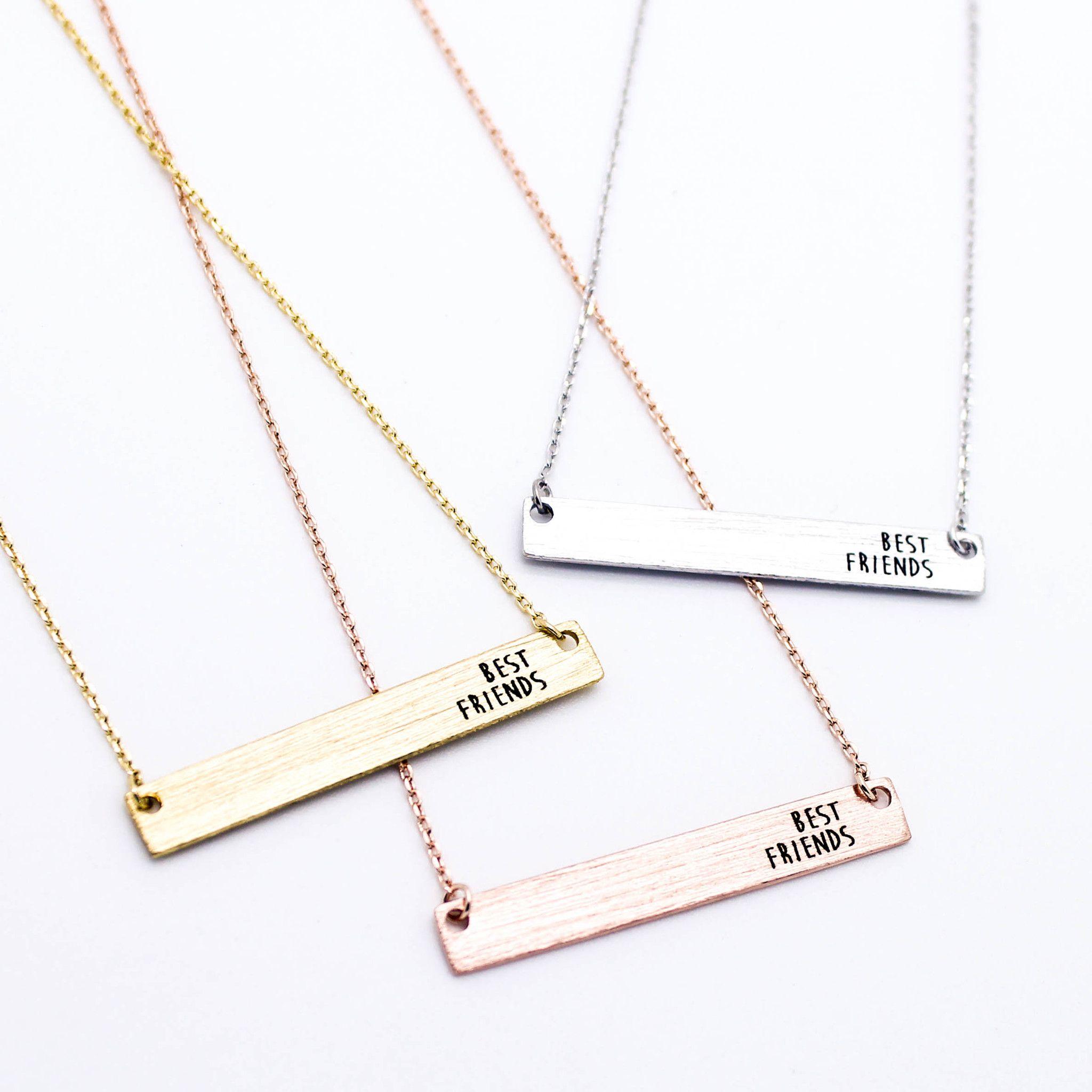 Best Friends necklace 3 colors