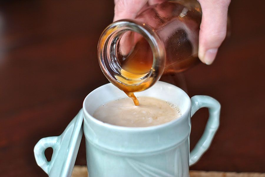 Making homemade chai concentrate. Heavenly. HEAVENLY.