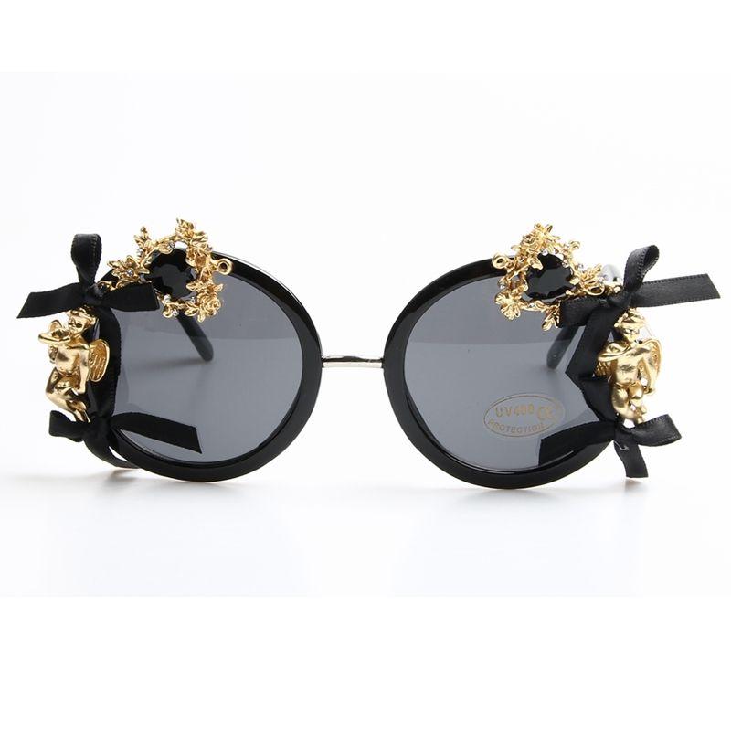 2017 accesorios de Moda de Lujo gafas de Sol de las mujeres barroco ...