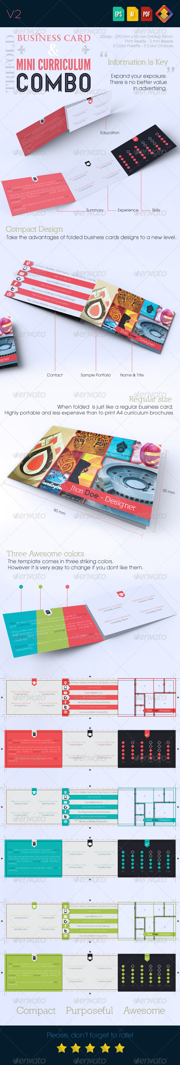 Trifold Business Card with Mini Curriculum Combo advantage ...