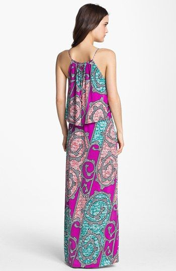 Tbags los angeles maxi dress with beading daily