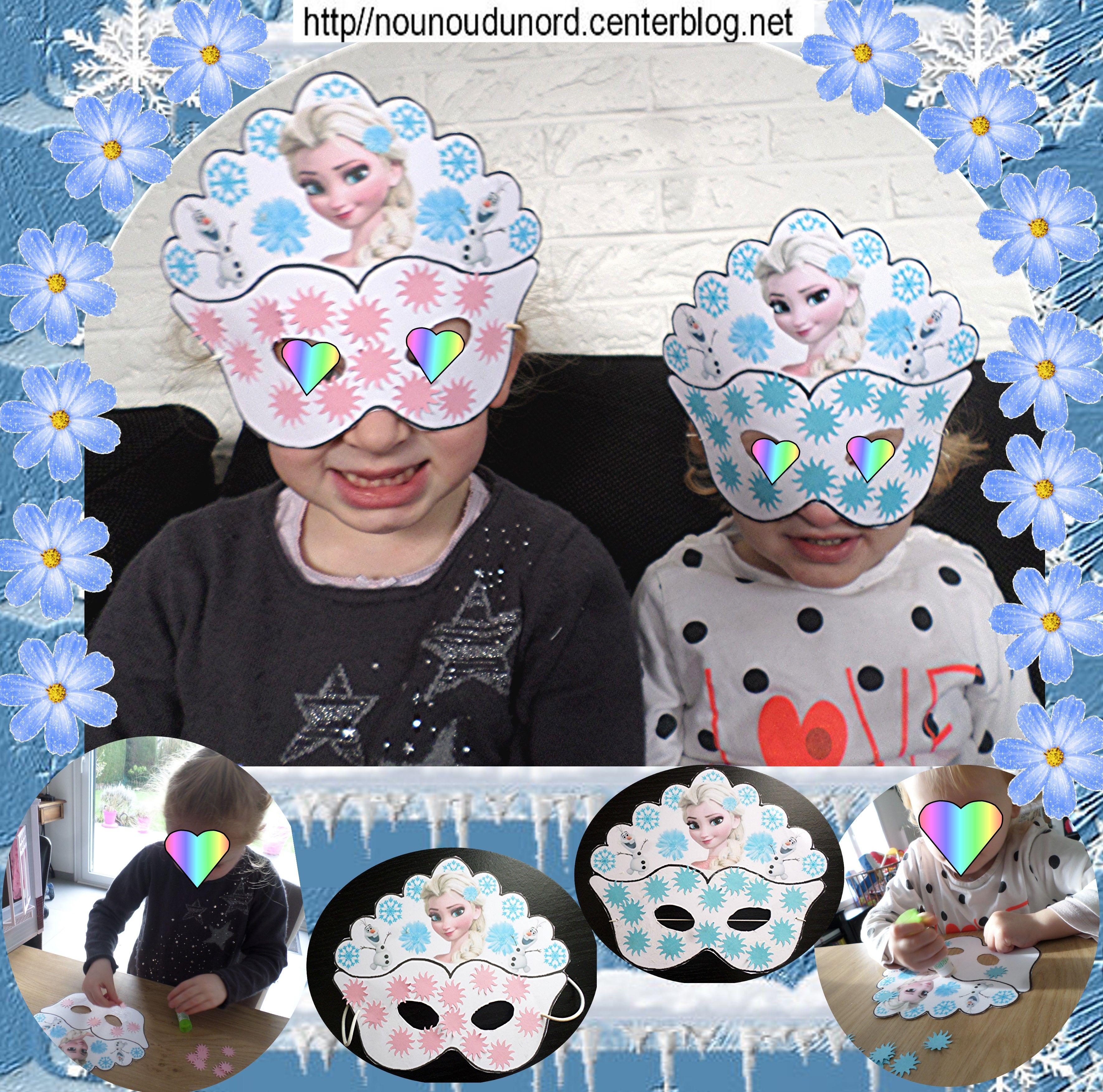 Mes 2 princesses avec leur masque de la reine des neiges | Reine des neiges, Masque et Reine