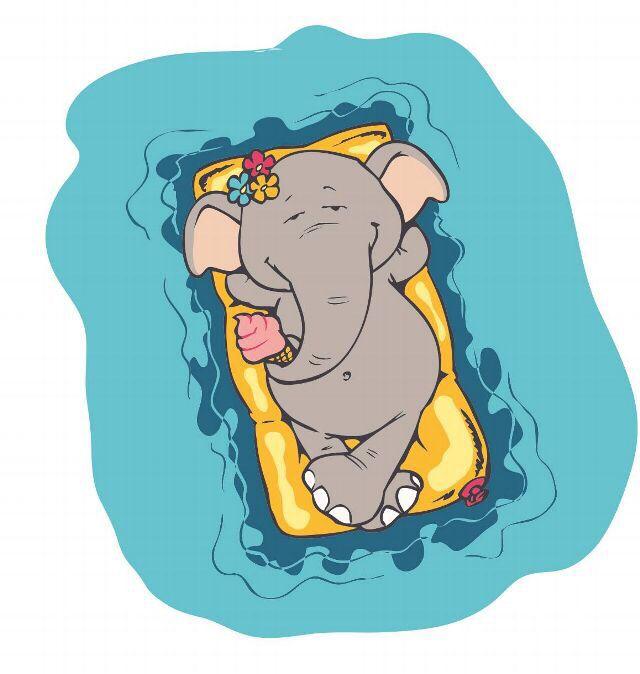 Веселые картинки со слониками, мой дорогой открытка